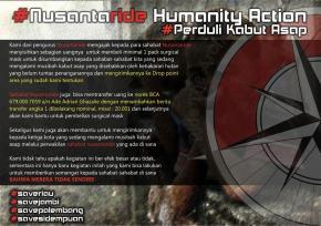 Nusantaride Humanity Action, Peduli Kabut Asap