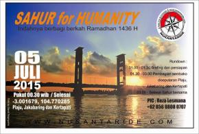 SAHUR FOR HUMANITY 2015